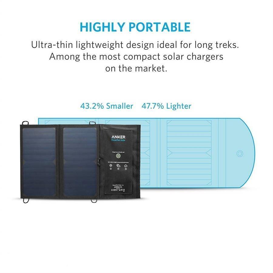 nker A2422 PowerPort Solar Lite Solar Chargerشارژر خورشیدی انکر مدل A۲۴۲۲ PowerPort Solar Lite