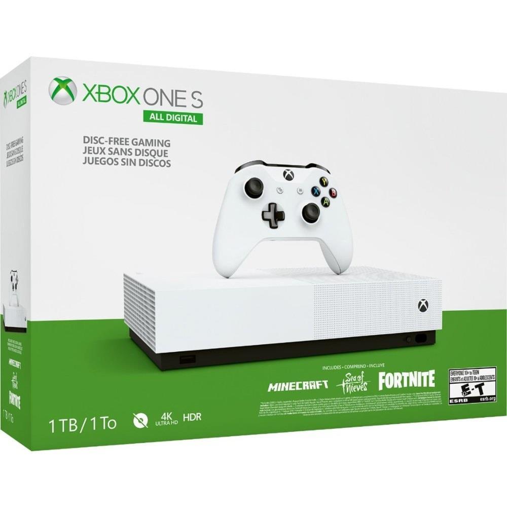 خرید Xbox One S - نسخه دیجیتال یک ترابایت  قیمت ایکس باکس وان اس نسخه دیجیتال    Microsoft Xbox One S 1TB All Digital Edition Game Console