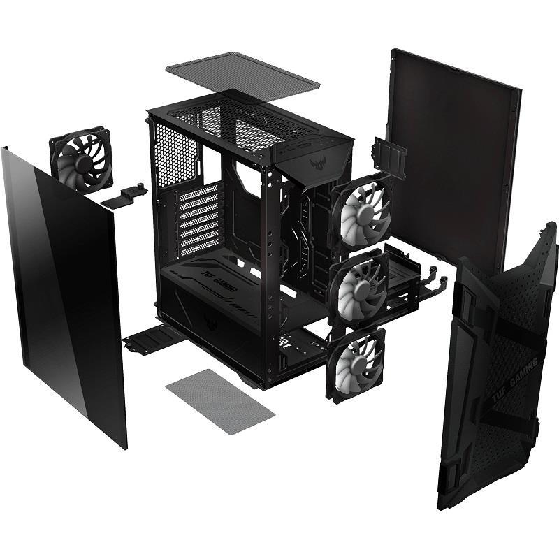 قیمت و خرید کیس گیمینگ ایسوس مدل TUF Gaming GT301 سری تاف   ASUS TUF Gaming GT301 Mid-Tower Case