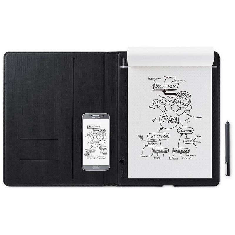 قیمت و خرید قلم نوری مدل CDS810G Bamboo Folio دارای کاغذ برای طراحی بهتر  Wacom CDS810G Bamboo Folio Large Smartpad