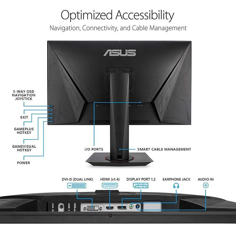 بهترین قیمت و خرید مانیتور ایسوس مدل VG278QR دارای فناوری جی سینک  Asus VG278QR 27 Inch 165Hz Gaming Monitor