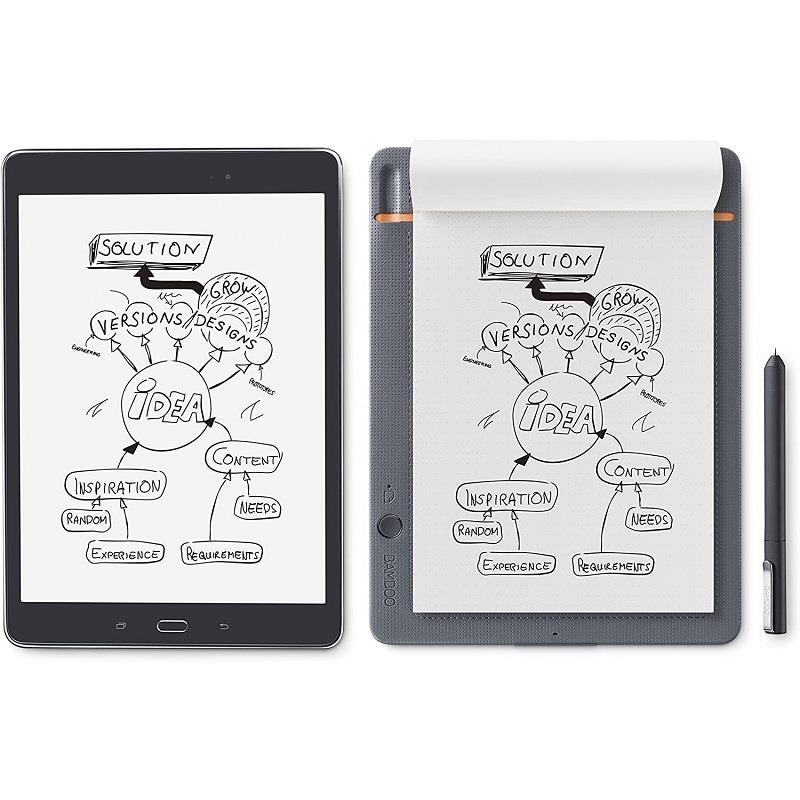 قیمت و خرید قلم نوری مدل CDS610S Bamboo Slate دارای کاغذ برای طراحی بهتر  Wacom CDS610S Bamboo Slate Small Smartpad