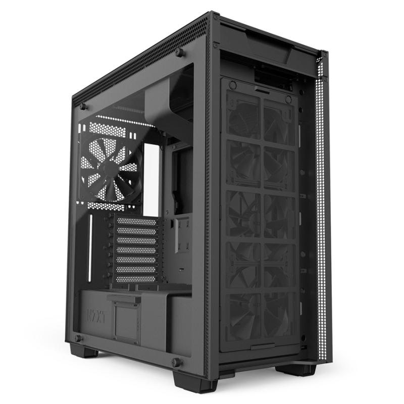 قیمت و مشخصات فنی کیس ان زد ایکس تی مدل H700I با گارانتی فوپ رنگ مشکی  NZXT H700I ATX MID-TOWER CASE